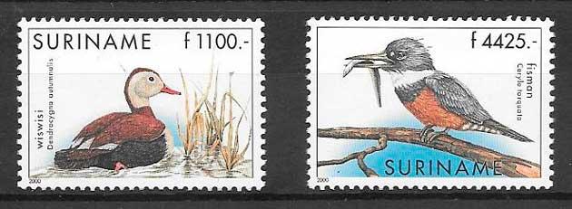 filatelia fauna 2000 Suriname