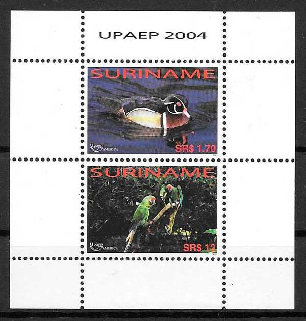 sellos fauna 2004 Surinam