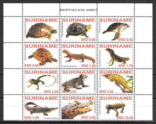 filatelia fauna Suriname 2007