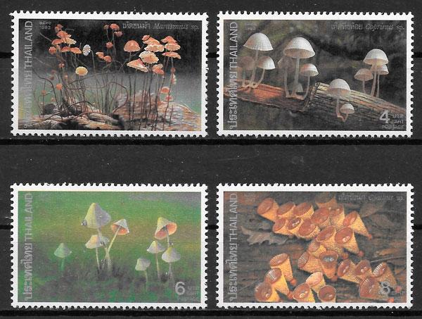 colección sellos setas Tailandia 1993