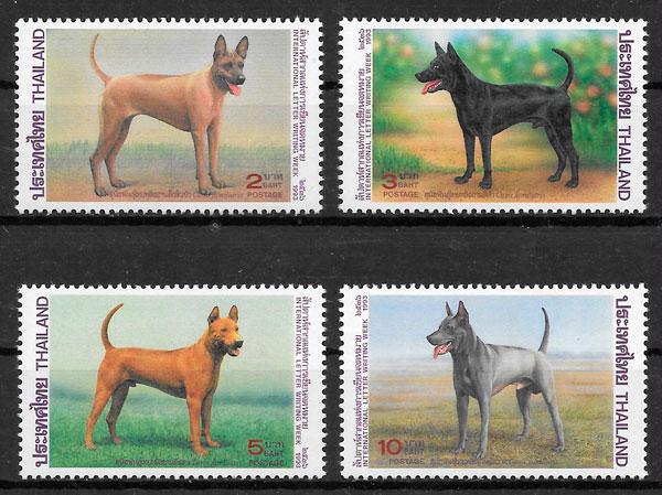 sellos perros Tailandia 1993