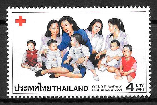 filatelia cruz roja Tailandia 2001