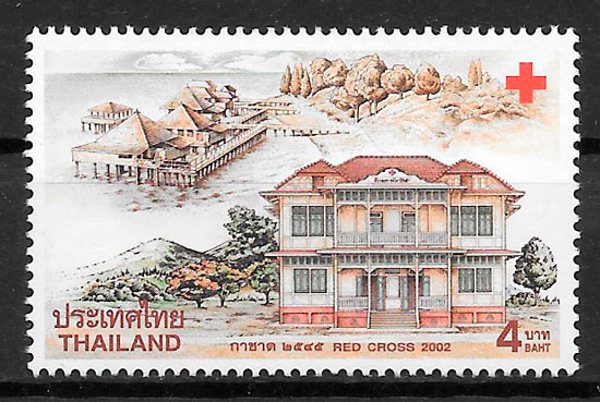sellos cruz roja Tailandia 2002