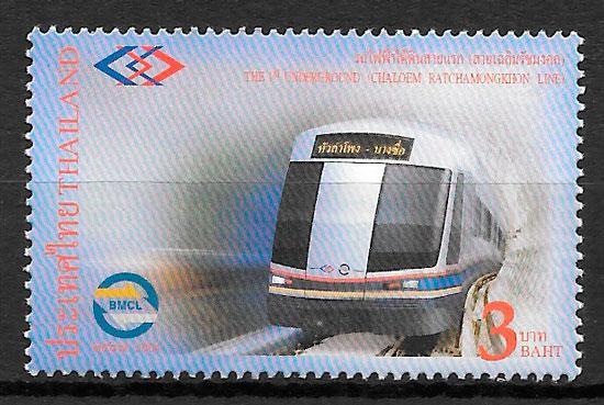 sellos trenes Tailandia 2004
