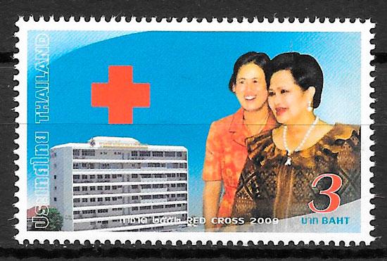 colección sellos cruz roja Tailandia 2009