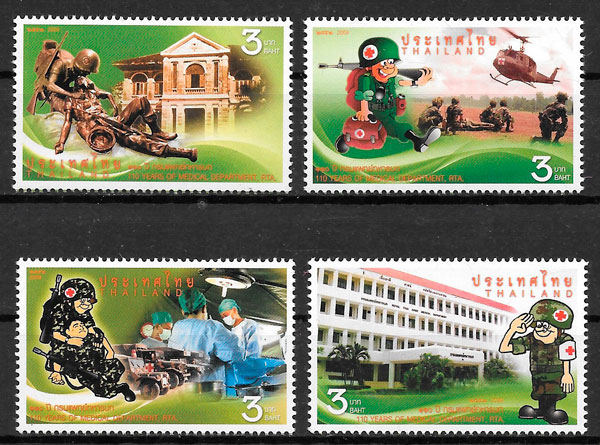 filatelia cruz roja Tailandia 2009