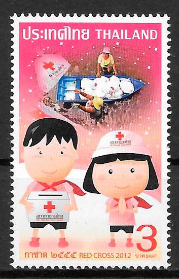filatelia colección cruz roja 2012