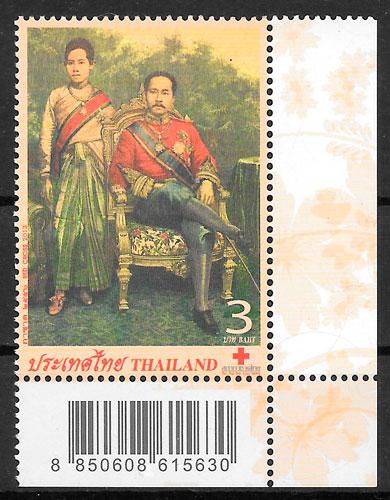 fiklatelia colección cruz roja Tailandia 2013