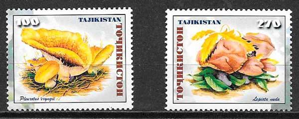 filatelia colección setas Tadjikistán 1999