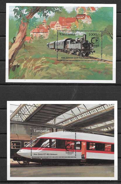 Filatelia sellos trenes trenes antiguos y modernos