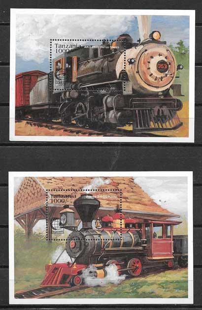 Filatelia sellos trenes y locomotoras