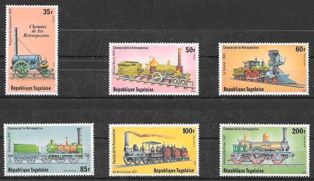 filatelia trenes Togo 1979