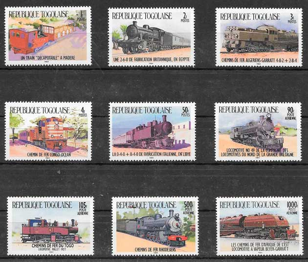 filatelia trenes Togo 1984