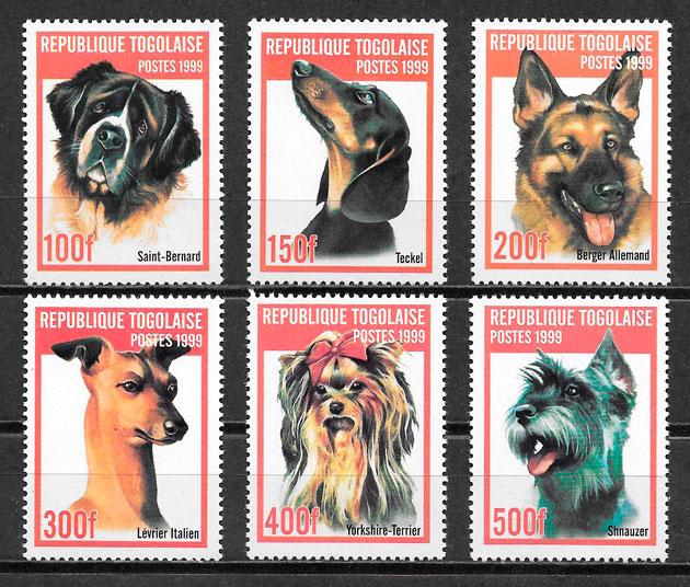 sellos perros Togo 1999
