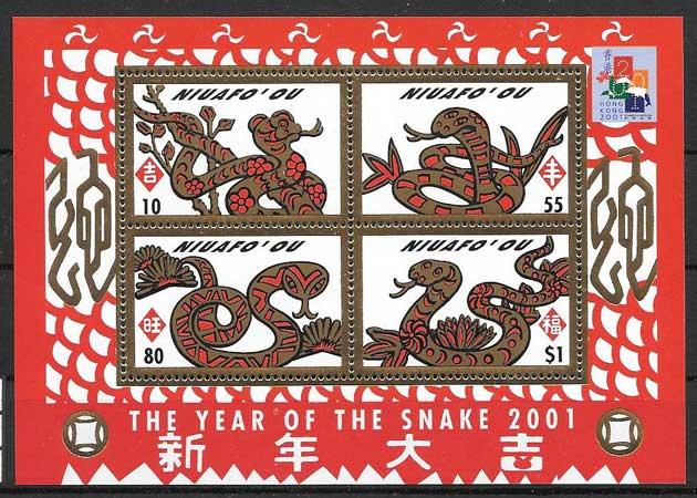 Filatelia año lunar Tonga