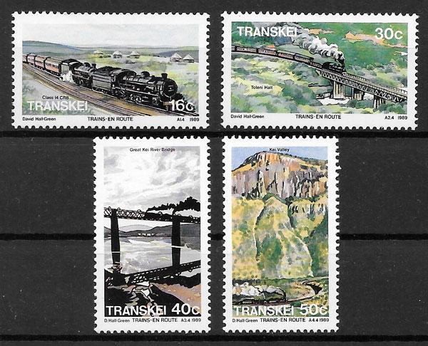selos trenes Transkei 1988