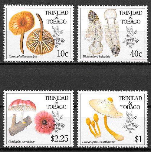 colección sellos setas Trinidad y Tobago 1990