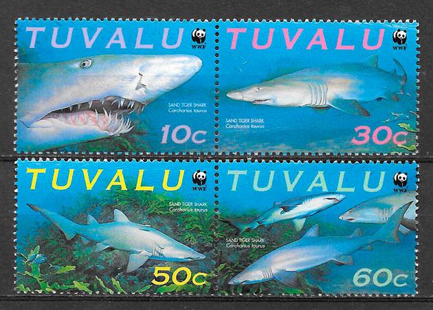 sellos wwf Tuvalu 2000