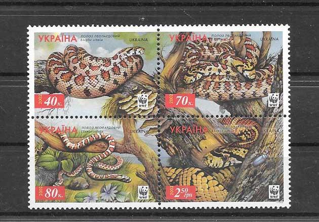 Sellos fauna protegida de Ucrania 2002