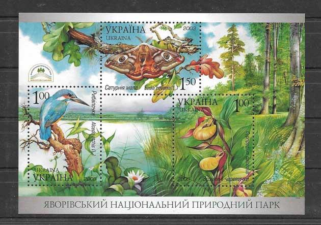 Colección Sellos fauna y flora de ucrania 2003