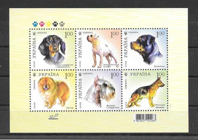 Colección sellos perros raza 2008