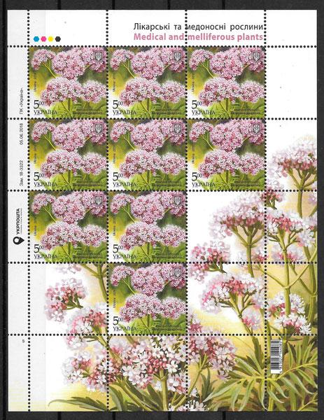sellos flora Ucrania 2019