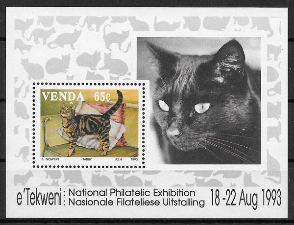 filatelia gatos Venda 1993