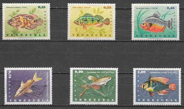 sellos fauna Venezuela 1966