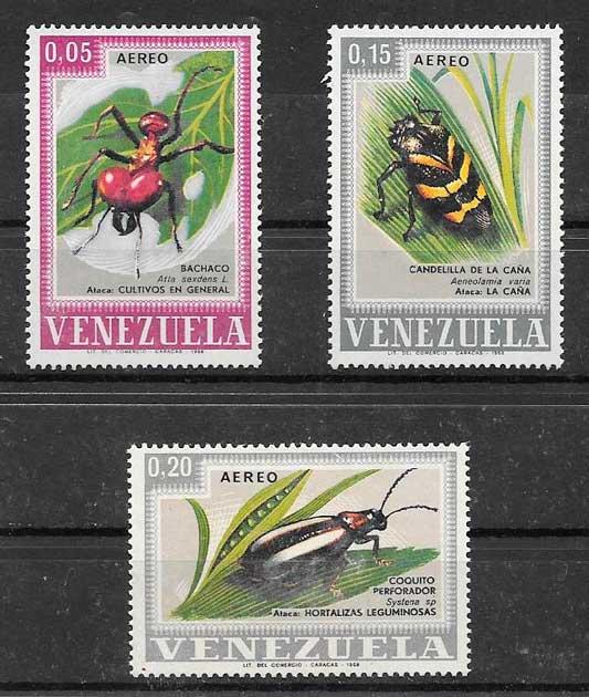 sellos fauna Venezuela 1968