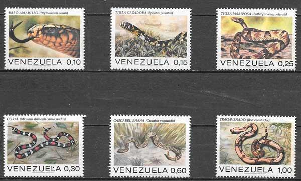 sellos filatelia fauna Venezuela 1976