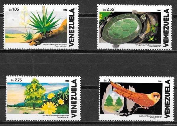 colección sellos fauna y flora Venezuela 1982