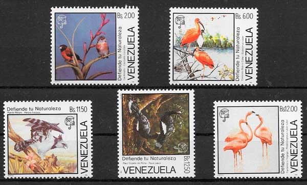 sellos filatelia fauna 1988 Venezuela