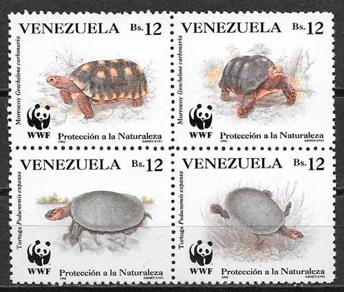 colección sellos wwf venezuela 1992