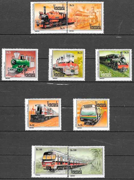 sellos trenes 1993 Venezuela
