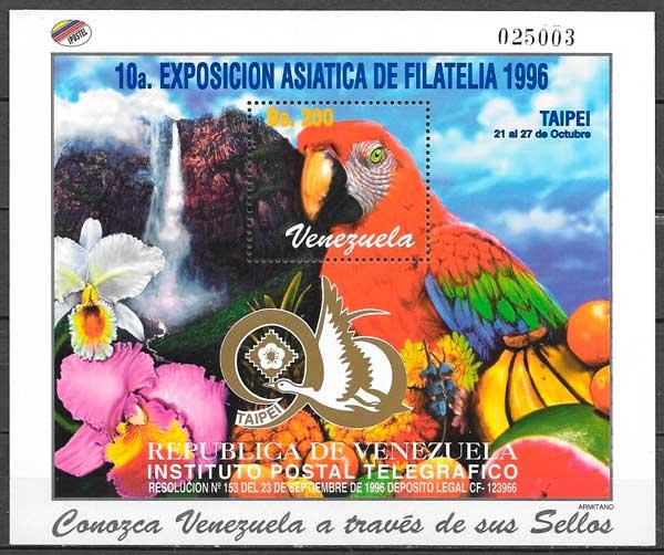 colección sellos fauna y flora Venezuela 1996