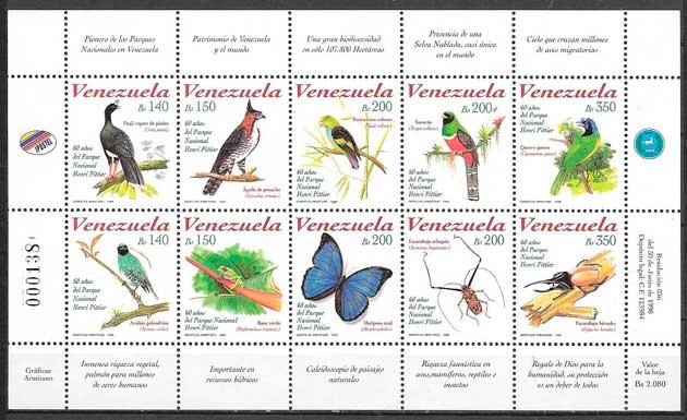 sellos filatelia fauna Venezuela 1998