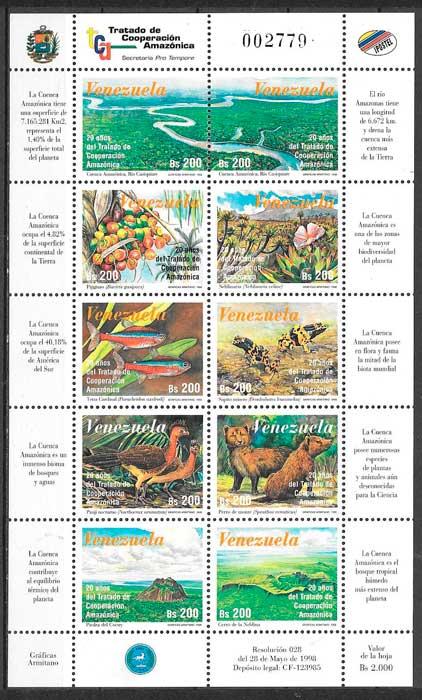 colección sellos varios temas Venezuela 1998