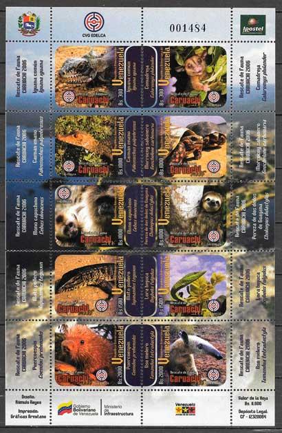 colección sellos fauna venezuela 2006