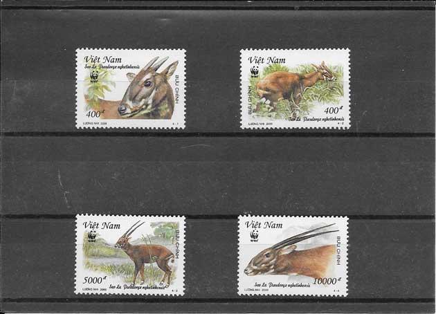 Colección sellos serie de fauna antilope