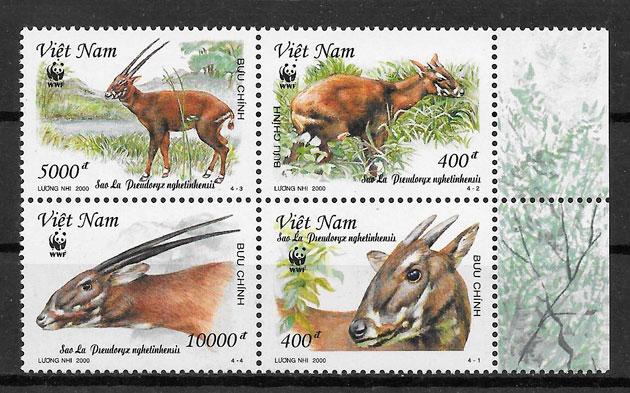 colección sellos wwf Viet Nam