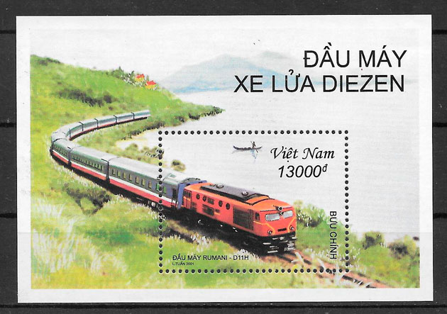 filatelia trenes Viet Nam 2001