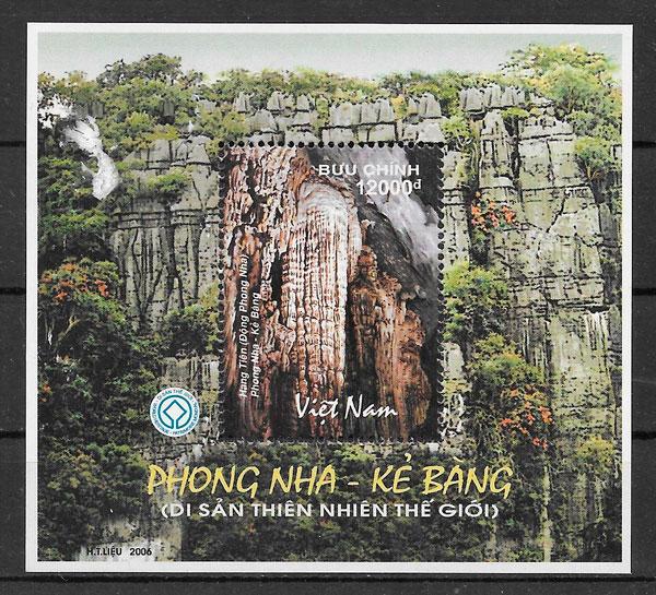 filatelia parques naturales Viet Nam 2006