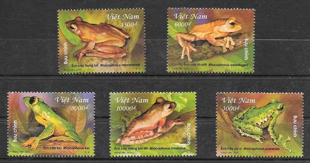 Filatelia fauna Viet Nam 2014