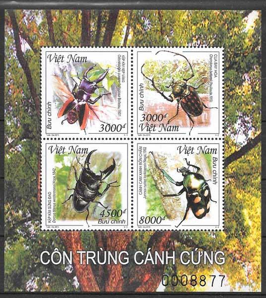colección sellos fauna Viet Nam 2015