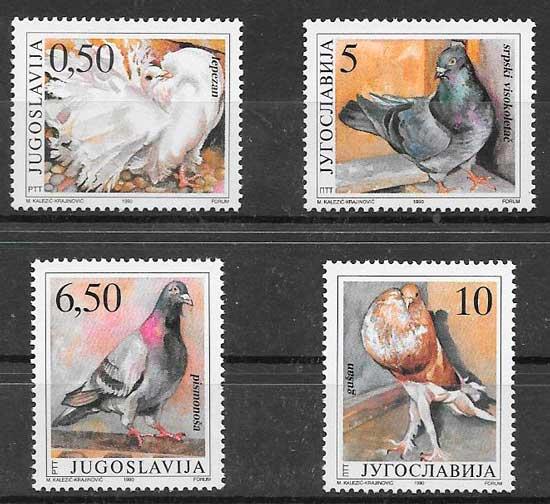 colección sellos fauna Yugoslavia 1990