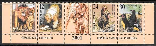 colección sellos fauna Yugoslavia