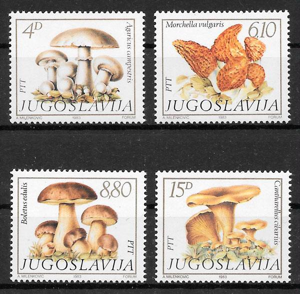 sellos setas Yugoslavia 1983