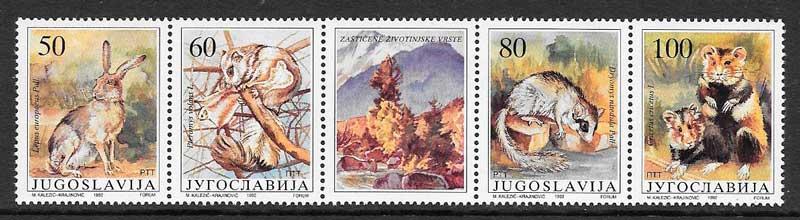 sellos fauna Yugoslavia 1992