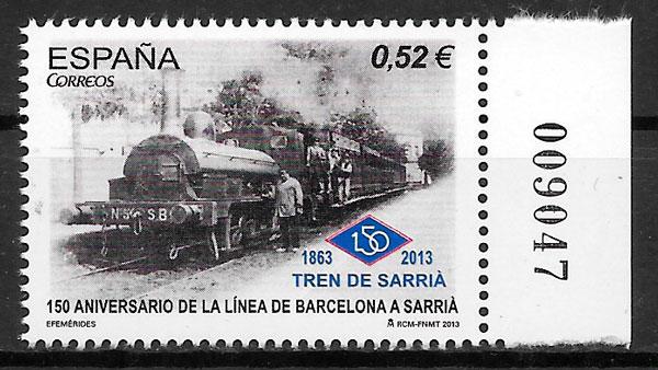 colección sellos trenes España 2013