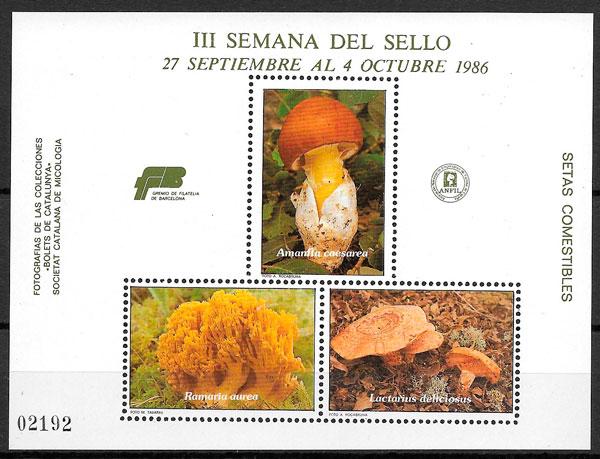 sellos setas Cataluna 1986